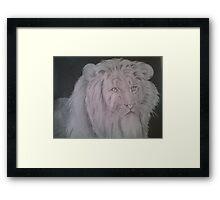 Lion of faith Framed Print