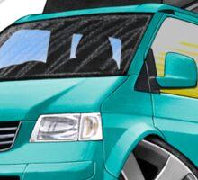 VW T5 California Camper Van Turquoise Sticker