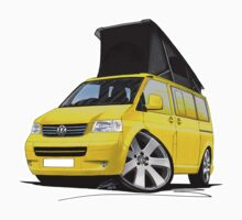 VW T5 California Camper Van Yellow by Richard Yeomans