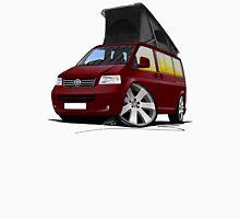 VW T5 California Camper Van Dark Red Unisex T-Shirt