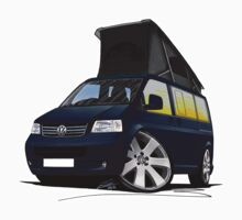 VW T5 California Camper Van Dark Blue by Richard Yeomans