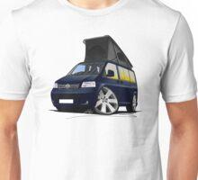 VW T5 California Camper Van Dark Blue Unisex T-Shirt