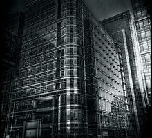 Canada Square BW by Alan E Taylor