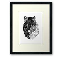 Wolf Mask Print Framed Print