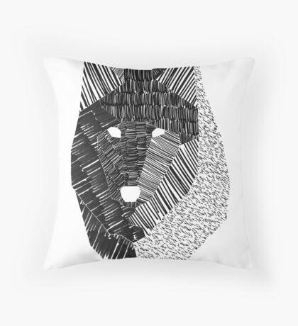 Wolf Mask Print Throw Pillow