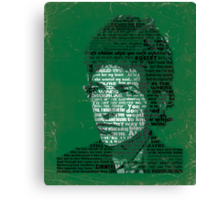 Typographic Icons - Bob Dylan Canvas Print
