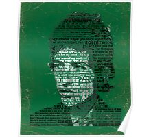 Typographic Icons - Bob Dylan Poster