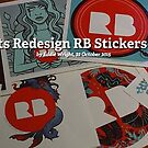 Redbubble Artists Redesign RB Stickers for the Holidays by Redbubble Community  Team