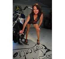Biker chick Photographic Print