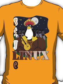 Funny night TUX (linux) T-Shirt