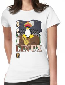 Funny night TUX (linux) Womens Fitted T-Shirt