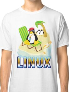 Funny with TUX (linux) Classic T-Shirt