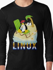 Funny with TUX (linux) Long Sleeve T-Shirt