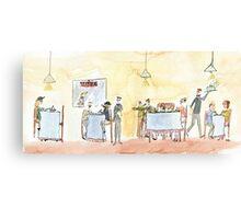 Ferdinand in the milk bar Canvas Print