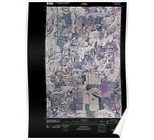 USGS Topo Map Washington State WA Mead 20110401 TM Inverted Poster