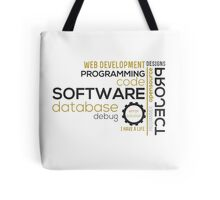 Programmer: typography programming Tote Bag