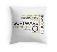 Programmer: typography programming Throw Pillow