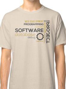 Programmer: typography programming Classic T-Shirt
