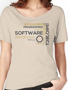 Programmer: typography programming Women's Relaxed Fit T-Shirt