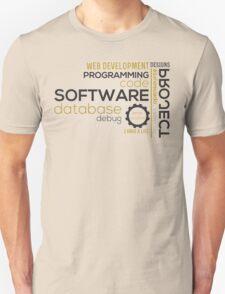 Programmer: typography programming Unisex T-Shirt