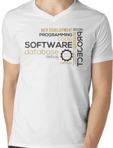 Programmer: typography programming Mens V-Neck T-Shirt