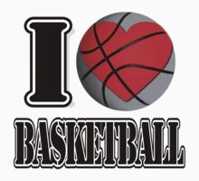 I love Basketball T-shirt Kids Clothes