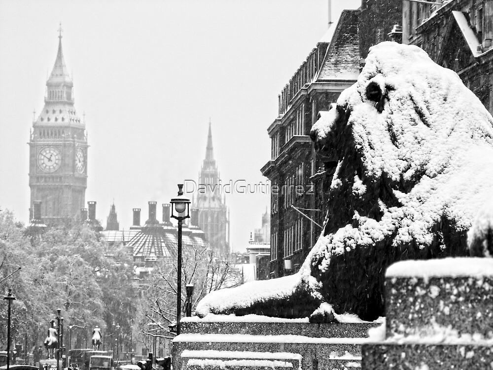 London Icons in the Snow by DavidGutierrez