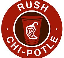 Rush Chipotle - Sticker by Zach Moore