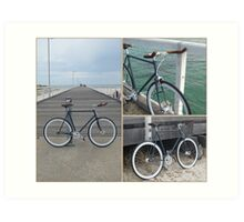 Beach Bike Art Print