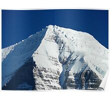 Robson summit in winter Poster
