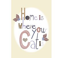 Home is where your Cat is Photographic Print
