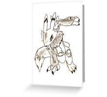 Renamon, Digimon Greeting Card