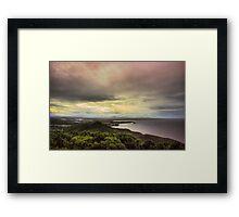Forster Sunset Rainbow Framed Print