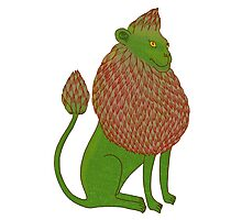 Asparagus Lion, King of the Vegetables Photographic Print