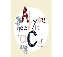 All you need is a Cat Photographic Print