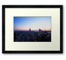 New York Sky Framed Print