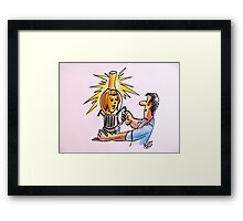 The light in my eyes Framed Print