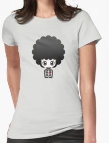 Skeleton afro girl Womens Fitted T-Shirt