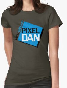 Pixel Dan Logo Womens Fitted T-Shirt