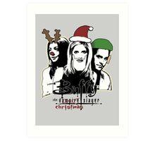 Buffy the Christmas Slayer! Art Print