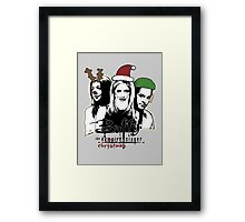 Buffy the Christmas Slayer! Framed Print