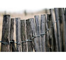 Fence- beach view Photographic Print