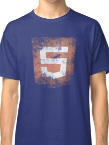 HTML5 Logo Distressed Classic T-Shirt