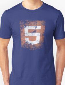 HTML5 Logo Distressed Unisex T-Shirt