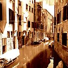 Venice in Sepia Red. by Michele Filoscia