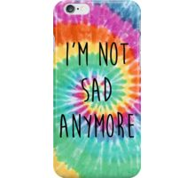 The Wonder Years Tie Dye - 'I'm Not Sad Anymore' iPhone Case/Skin