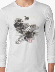 Desert Cactus Blooms by William Preston Long Sleeve T-Shirt