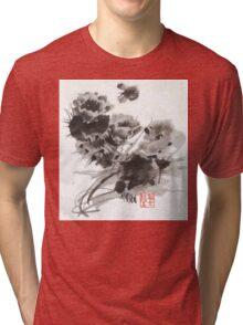 Desert Cactus Blooms by William Preston Tri-blend T-Shirt
