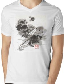 Desert Cactus Blooms by William Preston Mens V-Neck T-Shirt