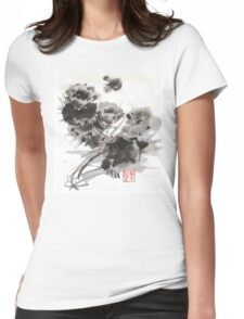 Desert Cactus Blooms by William Preston Womens Fitted T-Shirt